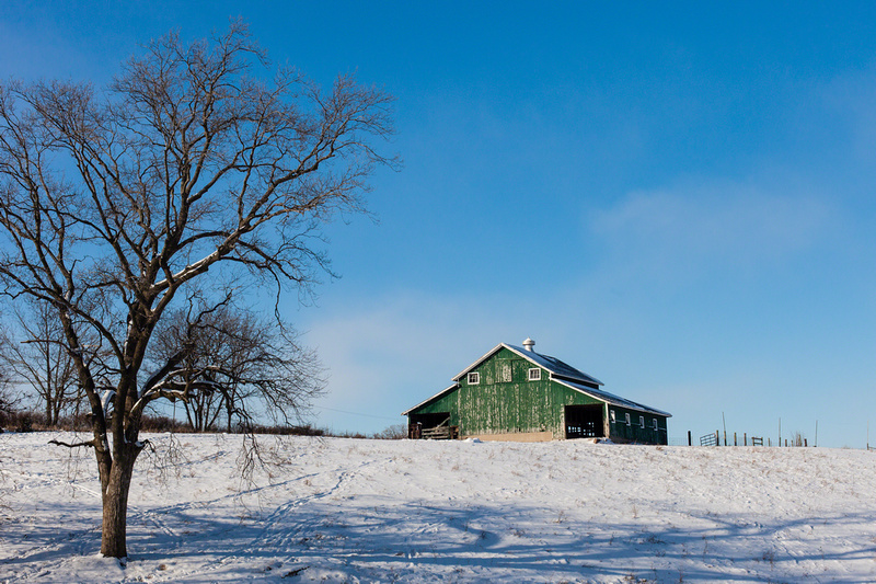 Green Barn on the Hill
